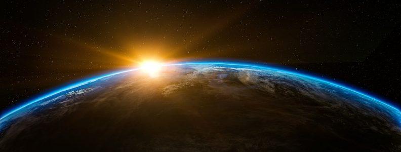 sunrise on earth's horizon